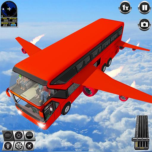 Flying Bus Driving simulator 2019: Free Bus Games 3.2  MOD APK Dwnload – free Modded (Unlimited Money) on Android