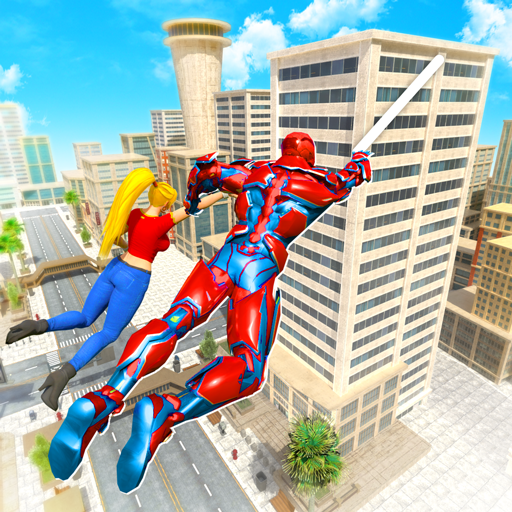 Flying Police Robot Rope Hero: Gangster Crime City  28 MOD APK Dwnload – free Modded (Unlimited Money) on Android