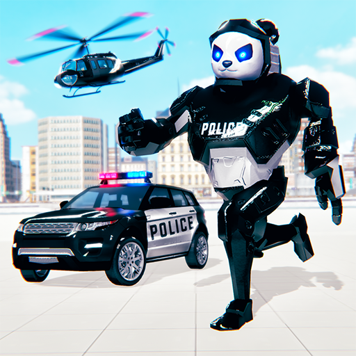 Police Panda Robot Car Transform: Flying Car Games 2.0.1  MOD APK Dwnload – free Modded (Unlimited Money) on Android