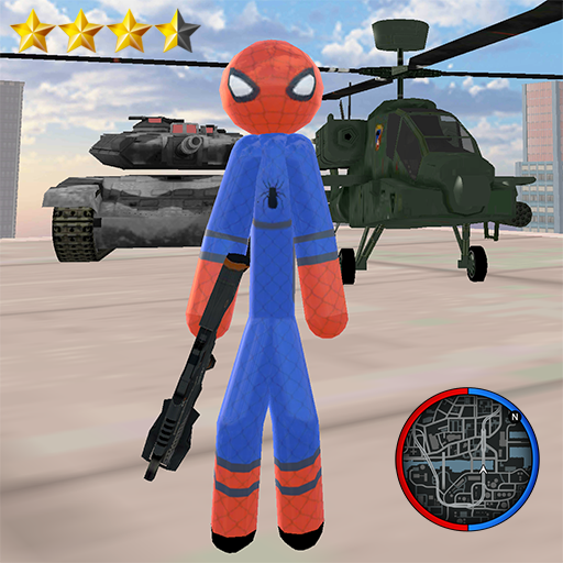 Stickman Spider Rope Hero Gangstar Crime 1.2 MOD APK Dwnload – free Modded (Unlimited Money) on Android