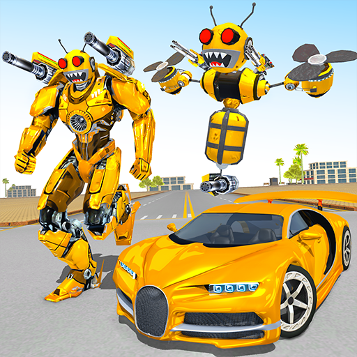 Bee Robot Car Transformation Game: Robot Car Games  1.30 MOD APK Dwnload – free Modded (Unlimited Money) on Android