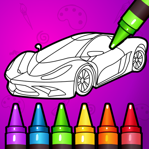 🚗 Learn Coloring & Drawing Car Games for Kids  🎨 7.0 MOD APK Dwnload – free Modded (Unlimited Money) on Android