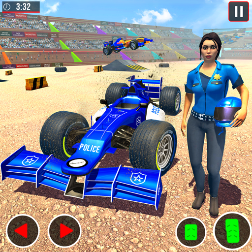 Police Formula Car Derby Demolition Crash 1.1.4  MOD APK Dwnload – free Modded (Unlimited Money) on Android