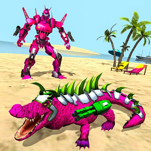 Real Robot Crocodile Simulator- Robot transform 1.0.22 MOD APK Dwnload – free Modded (Unlimited Money) on Android