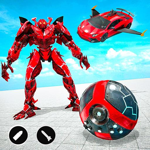 Red Ball Robot Car Transform: Flying Car Games 1.3.8 MOD APK Dwnload – free Modded (Unlimited Money) on Android