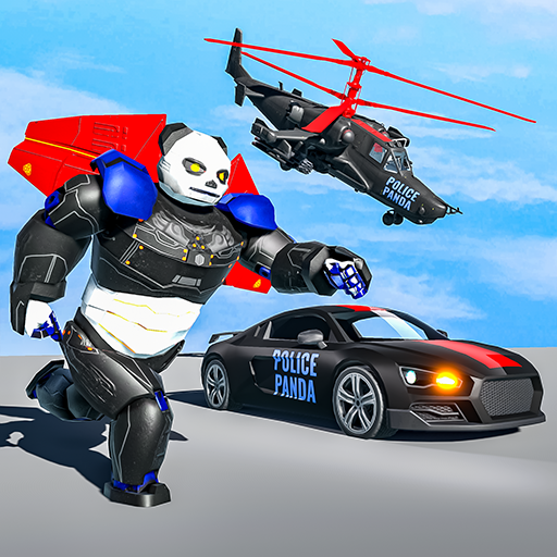 Flying Police Panda Robot Game: Robot Car Game 1.0.5 MOD APK Dwnload – free Modded (Unlimited Money) on Android