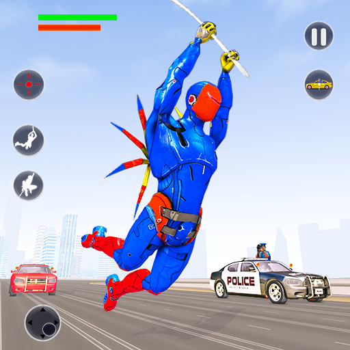 Flying Robot Rope Hero Vegas Crime City Gangster 3.8 MOD APK Dwnload – free Modded (Unlimited Money) on Android