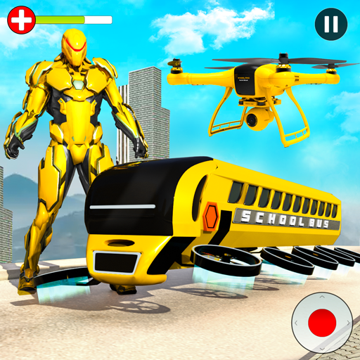 Flying School Bus Robot: Hero Robot Games 27 MOD APK Dwnload – free Modded (Unlimited Money) on Android