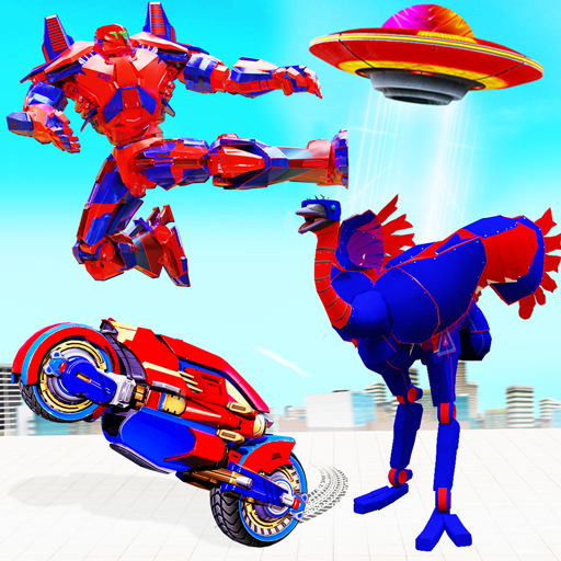 Flying Ostrich Robot Transform Bike Robot Games 38 MOD APK Dwnload – free Modded (Unlimited Money) on Android