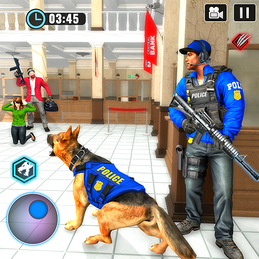 US Police Dog Bank Robbery Crime Shooting Game 2.9 MOD APK Dwnload – free Modded (Unlimited Money) on Android