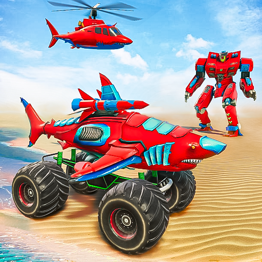 Monster Truck Robot Shark Attack – Car Robot Game 2.1 MOD APK Dwnload – free Modded (Unlimited Money) on Android